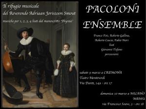 Pacoloni Ensemble concerti a Cremona e Milano