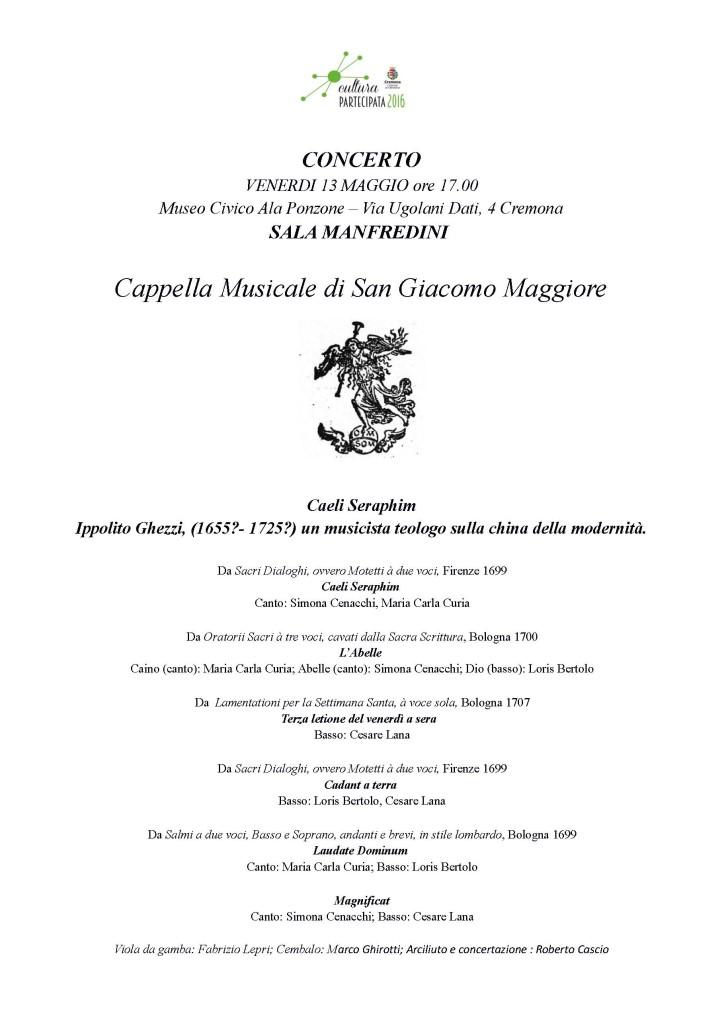 Programma Ghezzi 13 maggio Cremona