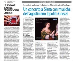 Araldo Poliziano, Concerto al Duomo di Siena